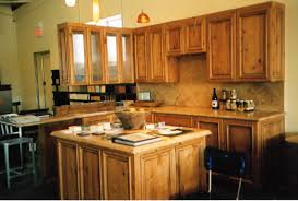 knotty alder showroom model kitchen hawley design furnishings