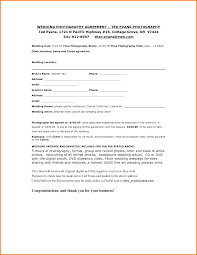 11 photography contract templates letterhead template sample