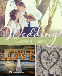 wedding quotes and poems wedding poems quotes magnetstreet weddings