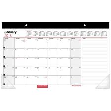 desk pad calendar 2018 office depot brand monthly desk pad calendar 17 x 11 30percent