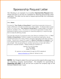 Fundraising Letters Asking For Donations by Sample Sponsorship Request Letter Thebridgesummit Co
