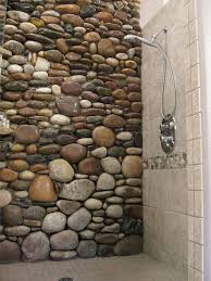Wall Tile Ideas For Bathroom by Best 25 River Rock Bathroom Ideas On Pinterest Master Bathroom