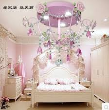 Children Bedroom Lighting Pink Princess Korean Pastoral Flowers Sitting Room Light Children