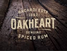 bacardi oakheart logo work oakheart spiced rum u2013 sandstrom partners
