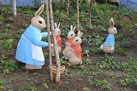 rabbit garden rabbit garden figurines riversdale estate flickr
