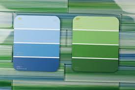 kitchen backsplash tile ideas blue glass subway green gray green