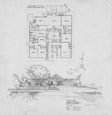 Atrium Ranch Floor Plans Eichler Floor Plan In The Fairhills Tract Of Orange Plan Oj 1605