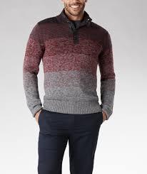 denver ombre button mockneck sweater yoba