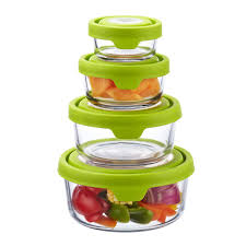 anchor hocking glass trueseal round food storage containers the