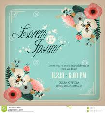 Invitation Card With Photo Wedding Invitation Card With Flowers Design Frame Stock Vector