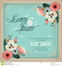Design Wedding Invitation Cards Wedding Invitation Card With Flowers Design Frame Stock Vector