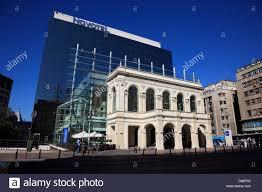 modern glass house hotel novotel modern glass facade building behind the facade of a