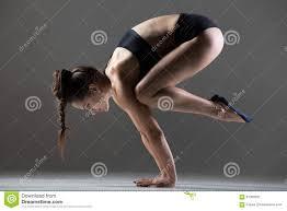 bakasana yoga pose stock photo image 61359261