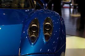blue pagani file geneva motorshow 2013 pagani huayra blue front lights jpg