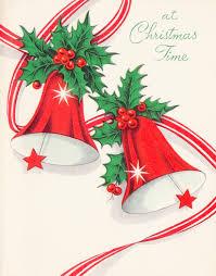 retro christmas cards at christmas time mad men christmas bells vintage christmas card