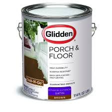 glidden porch u0026 floor paint and primer grab n go satin finish