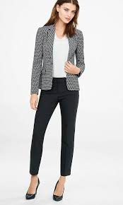 Pant Suits Pixel Print Jacket And Editor Ankle Pant Suit Express