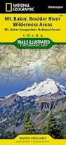 Washington State Topographic Map by Mount Baker And Boulder River Wilderness Areas Mt Baker