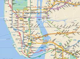 map of ny subway subway map ny city major tourist attractions maps
