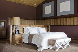 rustic bedroom decorating ideas decorations rustic bedroom design with wood wall cladding panels