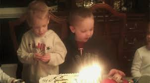 irti funny gif 6612 tags kid blowing out candles falls in cake
