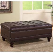 cheap faux leather ottoman coaster ottomans traditional oversized faux leather storage ottoman