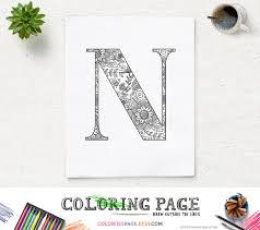 armenian alphabet coloring pages sale printable alphabet coloring page letter n floral pattern