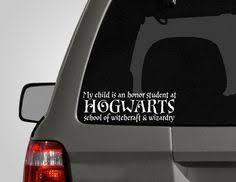 hogwarts alumni bumper sticker i like to waste gas and run children bumper brigade