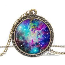 glass star pendant necklace images Galaxy necklace pendant fox fur nebula rainbow jewelry purple star jpg