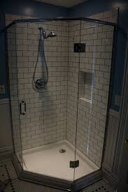 shampoo cubby alex freddi construction llc this beautiful old portland home called for a bathroom remodel in the original style white subway tiles stand out thanks to the darker grout lines