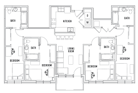 bath floor plans floor plans the suites at third student housing chaign il