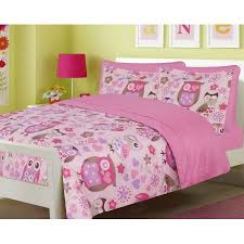 Purple Girls Bedding by Girls Bedding Full 7 Pc Owl Hearts Pink Purple Comforter And