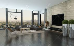 urban living room decorating ideas modern house modern urban living room interior with large view windows