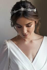 bridal crowns fleur delicate silver bridal crown tania maras bespoke