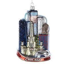 kurt adler 5 inch glass chicago city ornament home