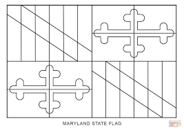 Flag With Bible Flag Of Maryland Coloring Page From Maryland Category Select From