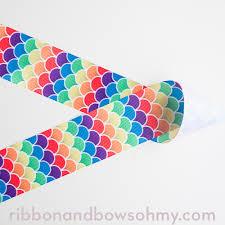 mermaid ribbon rainbow mermaid ribbon and bows oh my