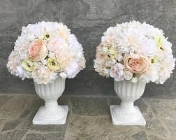silk flower centerpieces artificial flower arrangement etsy