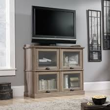 sauder bookcase with glass doors barrister lane highboy tv stand 414720 sauder