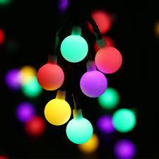 globe solar powered christmas lights 21ft 50led multi color ball