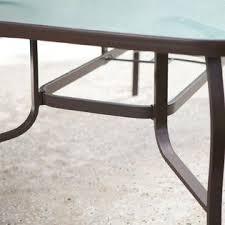 axondirect crgpd519815 rectangular glass top patio dining table
