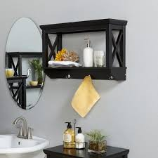 riverridge x frame wall shelf with hooks espresso walmart com