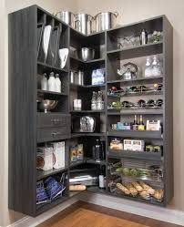 large portable pantry cabinet from charcoal wood floated on beige