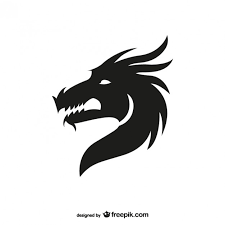 dragon head silhouette vector free download