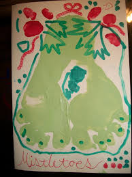 sending kisses from under the mistletoes christmas craft idea