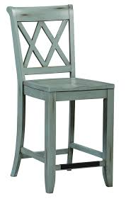 Standard Counter Height by Standard Furniture Vintage X Back Blue Counter Chair Great