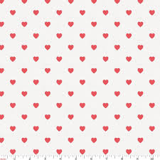 coral hearts fabric by yard coral fabric carousel designs