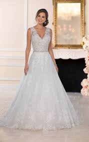 a line wedding dress wedding dresses lace a line wedding dress with keyhole back