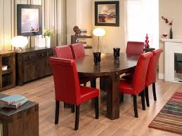 Best Fabric For Dining Room Chairs Red Dining Chairs Red Dining Chair Made Of Leather Combined With