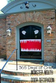 halloween door decorations monster mouth
